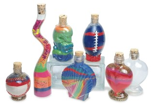 Heart Sand Art Bottles