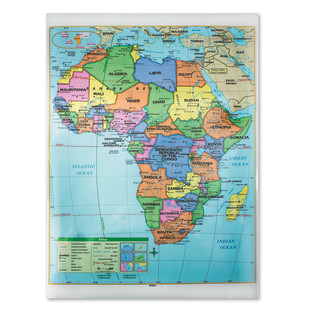 AFRICA POLITICAL MAP LAMINATED