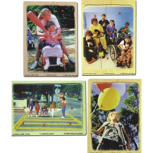 PUZZLE SET DISABILITY S/4