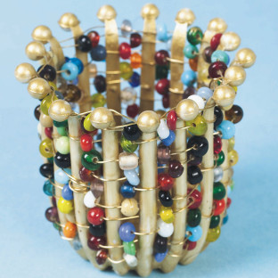 Jeweled Woven Pot Craft Kit