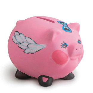 BISQUE PIGGY BANK KIT PK/12