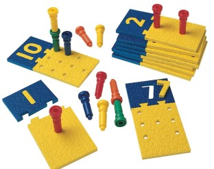 Number Puzzle Boards & Pegs Set