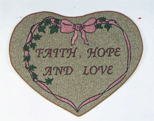 MAT FAITH/HOPE/LOVE