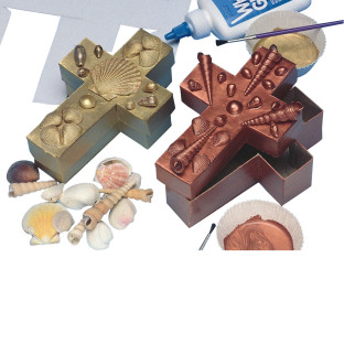 Shell Cross Boxes Craft Kit