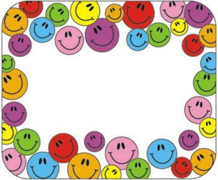 Self-Adhesive Name Tags - Smiley Face