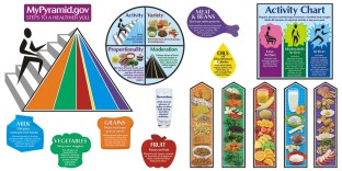MY PYRAMID FOOD BULLETIN BOARD SET