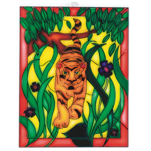 Tiger Nature Scene Stain-A-Frame Set