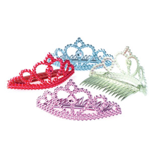 Multicolored Tiara Combs