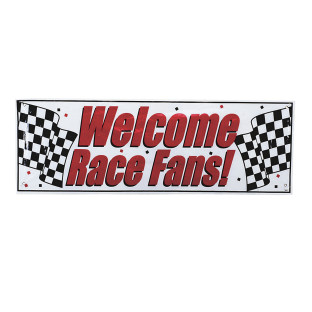 'Welcome Race Fans' Banner