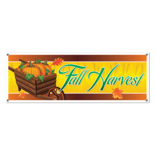 Fall Harvest Sign Banner