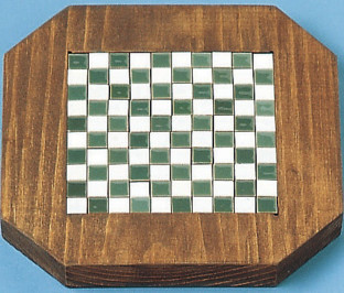 TILE TRIVET WOOD OCTAGON