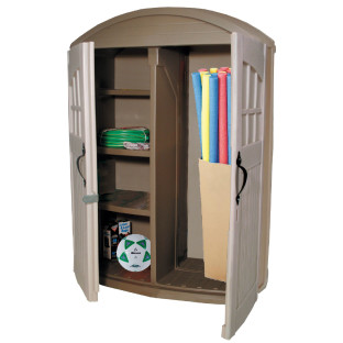 Lockable doors to keep contents secure.
