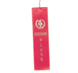 Award Ribbons Second Place-Red