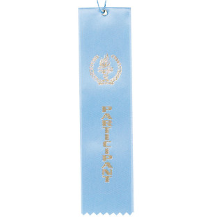 Award Ribbon Participant-Light Blue
