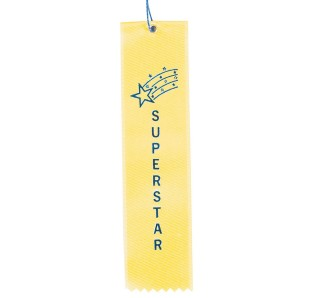 Award Ribbons Superstar-Yellow