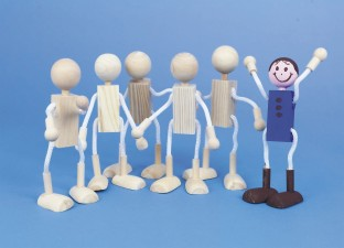 Unfinished Posable Wood Dolls