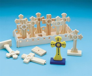 Unfinished Wooden Cross Set