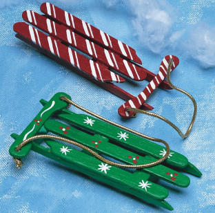 Christmas Sleds Craft Kit