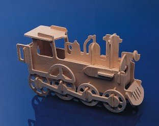 Unfinished Punch and Make Train Model, Unassembled
