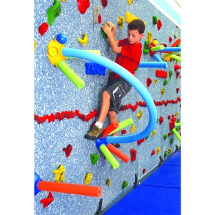 Works with any flat climbing wall, sold separately.