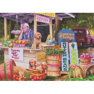 Puppies 35-Piece Tray Puzzle