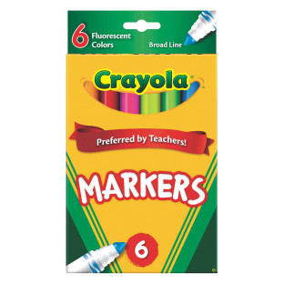Crayola® Classic Markers - Fluorescent