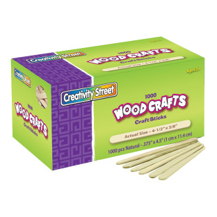 CRAFT STICKS 4 1/2X3/8 IN CHENILLE KRFT 1000PK