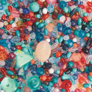 BEAD SEMI PRECIOUS 1/2LB MIX