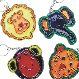 Zoo Sun Catcher Key Chains© Craft Kit