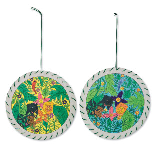 Jungle Animal Mandalas Craft Kit