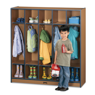 SPROUTZ COAT LOCKER 5 SECTION RED