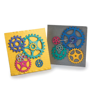 GEARS AND RIGGING COLLAGE CRAFT KIT PK12