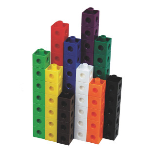 Blocks come in 10 colors.