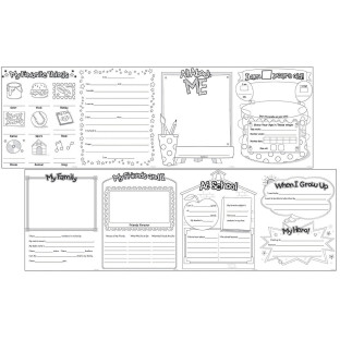 ALL ABOUT ME WRITING FOLD OUTS PK30