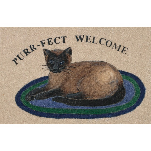 MAT DECORATIVE PURR-FECT WLCM