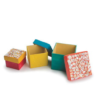 Paper Mache Nested Boxes - Square