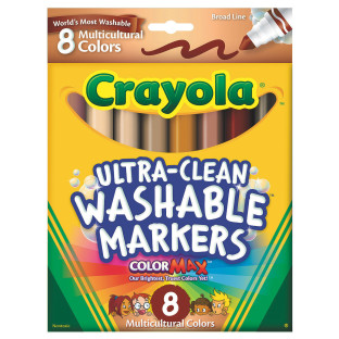 CRAYOLA ULTRA CLEAN MULTICULTURAL MARKERS BX/8