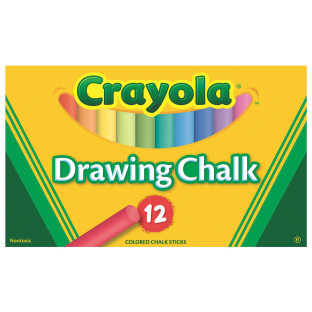 CRAYOLA DRAWING CHALK 12CLRS/PK