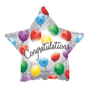 Congratulations Twinkling Star Mylar Balloons