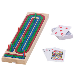 Cribbage Board and Card Set