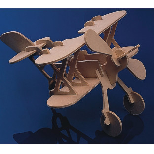 Unfinished Punch and Make Airplane Model, Unassembled