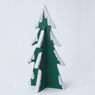 Unfinished Wooden Christmas Tree, Unassembled