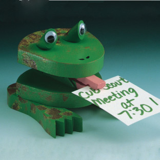 Unfinished Frog Note Holder, Unassembled