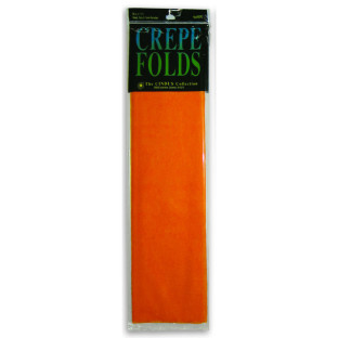 Crepe Paper Folds, Bright Orange