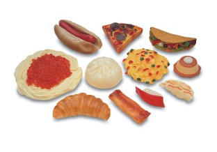 MULTICULTURAL PLAY FOODS  SET OF 13