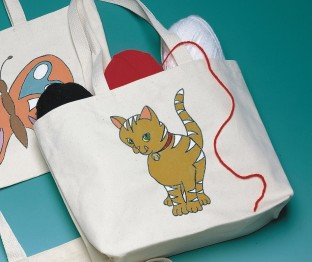 TOTE BAG PREPRINTED KITTY
