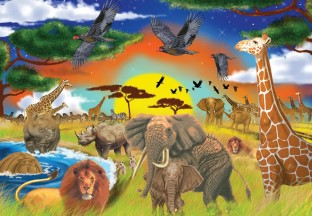 PUZZLE SAFARI 200PC