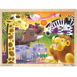 PUZZLE WOOD AFRICAN PLAINS JIGSAW 24 PC