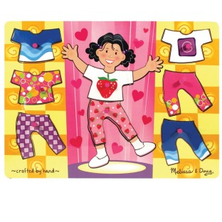 WOOD PUZZLE GIRL DRESS-UP MIX N MATCH PEG