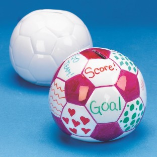 CERAMIC SOCCER BALL BANK PK/12